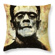 Frankenstein's Notebooks Throw Pillow