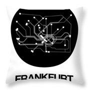 Frankfurt Black Subway Map Throw Pillow