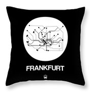 Frankfurt White Subway Map Throw Pillow