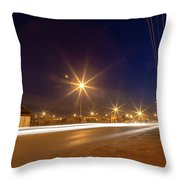 Freedom Square Long Exposure Throw Pillow