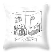 Freelance Test Rat Throw Pillow