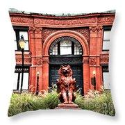 Freemason's Hall Historic Savannah Throw Pillow