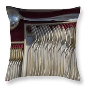 French Silver Throw Pillow