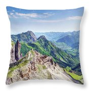 French Village In The Pyrenees Throw Pillow