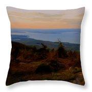 Frenchman's Bay From Cadillac Mountain Digital Photo Art Throw Pillow
