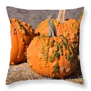 Fresh Butternut Pumpkins Throw Pillow