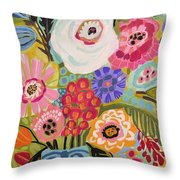 Fresh Flowers In Vase II    Throw Pillow