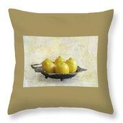 Fresh Lemons Throw Pillow