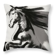 Frisian Rising Horse Throw Pillow by Go Van Kampen