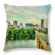 From Across The James Throw Pillow