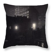 From The Back Window, 291 Ny Winter Throw Pillow