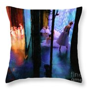 Front Stage, Back Stage Throw Pillow