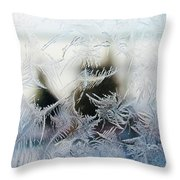 Frost From Canada Throw Pillow
