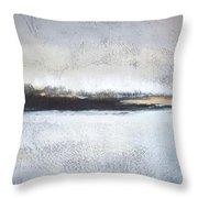 Frozen Winter Lake Throw Pillow