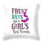 Fruit Bat Conservation Halloween Flying Fox Women Light Throw Pillow