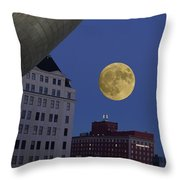 Full Moon At The Plaza Throw Pillow