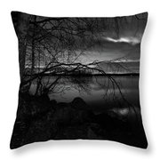 Full Moon Behind The Clouds Throw Pillow
