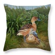 Fulvous Whistling Ducks  Throw Pillow