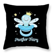 Fun Pacifier Fairy Boys To Give Up Pacifiers Throw Pillow