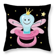 Fun Pacifier Fairy Tshirt For Girls To Get Rid Of Pacifiers Throw Pillow