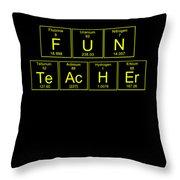 Fun Teacher Teachers Assistant Design Yellow Throw Pillow