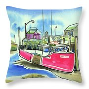 Fundy Tide Hall's Harbour Throw Pillow