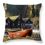 Funicular Railway East Cliff Hastings Throw Pillow