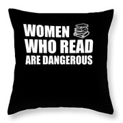Funny Book Lover Design Who Likes Books Throw Pillow