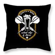 Funny Dart Player Darts And Beer Lovers Throw Pillow