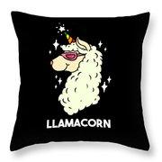 Funny Llamacorn Unicorn Alpaca Lama Throw Pillow