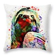 Funny Sloth Throw Pillow