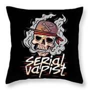Funny Vapor Longsleeve Tshirt Serial Vapist Throw Pillow