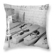 Funural Coffin Group Throw Pillow