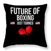Future Of Boxing Just Turned 8 Throw Pillow