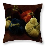 Fuzzy Pumpkins Throw Pillow
