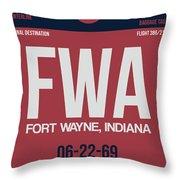 Fwa Fort Wayne Luggage Tag II Throw Pillow