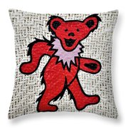 G D R E D B E A R Throw Pillow