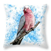 G Is For Galah Throw Pillow