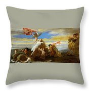 Galatea And Polyphemus  Throw Pillow