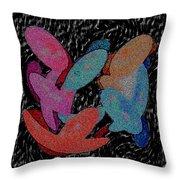 Galaxies Merging Throw Pillow
