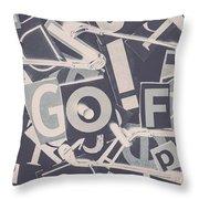 Game Of Golf Throw Pillow