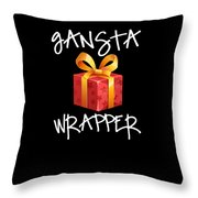 Gangsta Wrapper Funny Christmas Xmas Gift  Throw Pillow