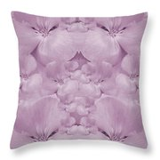Garden Of Big Paradise Flowers Ornate Throw Pillow