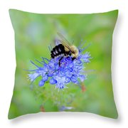 Floating On Blue  Throw Pillow