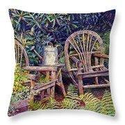 Garden Retreat Throw Pillow