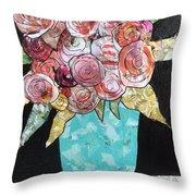 Garden Roses Throw Pillow