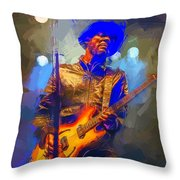 Gary Clark Jr Throw Pillow