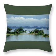 Gatun Lake Islands Throw Pillow