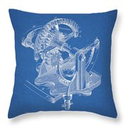 Gear Patent Design Throw Pillow