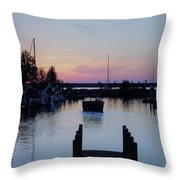 Calm Sunset Finish Throw Pillow